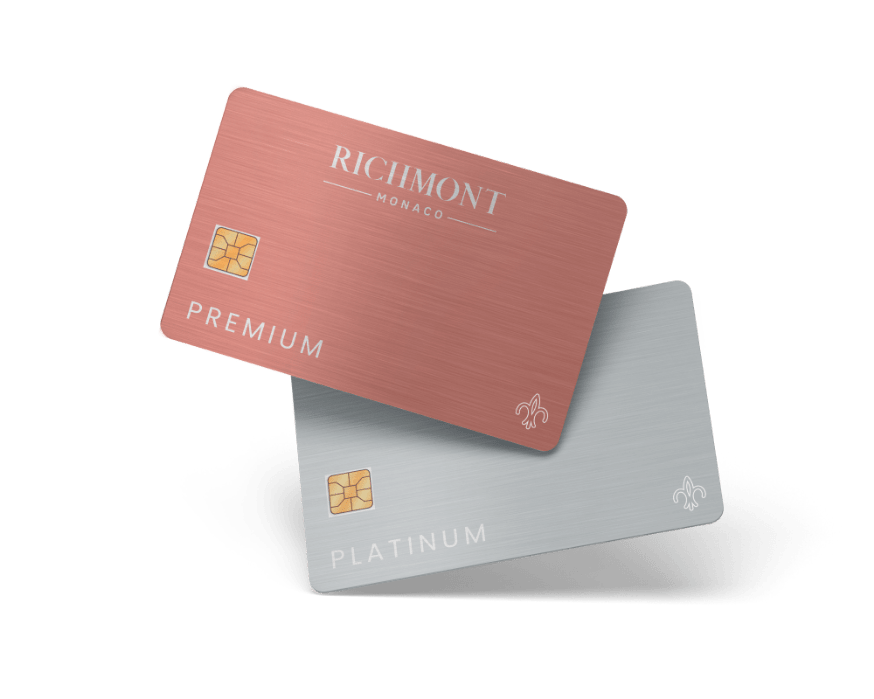 Membership cards for our beauty institute in Monaco; this card guarantees best skincare treatments in Monaco - Richmont Monaco
